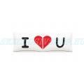 I Love You plüss párna pár